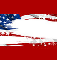 abstract usa flag paintbrush banner background vector image vector image