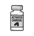 activated charcoal jar vintage icon vector image vector image