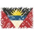 Antigua and Barbuda grunge flag vector image