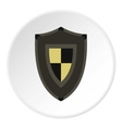 Army shield icon flat style vector image vector image