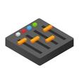 Audio mixer isometric 3d icon vector image