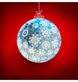 Background with Christmas ball EPS10 vector image