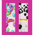 balloons for party birthday or rand opening event vector image vector image