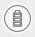 battery with a full charge icon line vector image vector image
