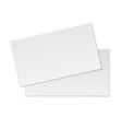 blank business cards on white background vector image