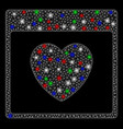 bright mesh 2d favourite heart calendar page with vector image vector image
