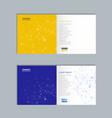 brochure with molecule structure vector image vector image