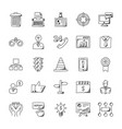 business doodle icons set vector image vector image