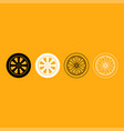 car wheel it is white icon vector image vector image