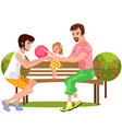 cartoon gay partners having fun in nature vector image vector image