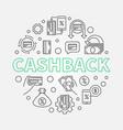 cashback outline round cash vector image vector image