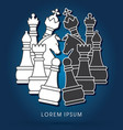 chess set fighting vector image vector image