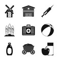 children vaccinated icons set simple style vector image vector image