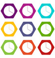circle chart infographic icon set color hexahedron vector image vector image