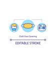 cloth face covering concept icon vector image