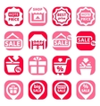 color shopping icons vector image vector image