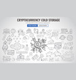 cryptocurrency concept hand drawn business doodle vector image vector image