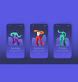 dancing jazz characters landing page set vector image