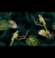 dark tropical seamless pattern with exotic vector image vector image