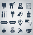 Dental icons Silhouette vector image