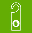 do not disturb sign icon green vector image