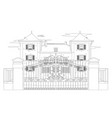 drawing of a very nice house vector image vector image