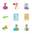 Employment agency icons set cartoon style vector image vector image