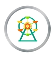 Ferris wheel icon in cartoon style isolated on vector image vector image