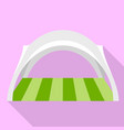 festive tent icon flat style vector image vector image