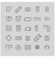 furniture icons top view vector image vector image