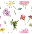 Garden flowers seamless pattern for your design vector image