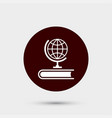 globe icon simple geography element school vector image