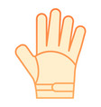 glove flat icon warm clothes orange icons in vector image vector image