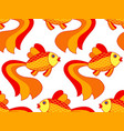 gold fish pattern vector image vector image