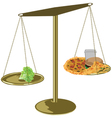 healthy food scales vector image vector image