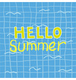 hello summer poster hello summer poster vector image vector image