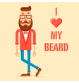 Hipster guy with the modern beard vector image
