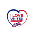 i love united kingdom vector image