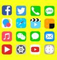 icon smart phone vector image