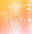 infographic pie charts over colorful blurred vector image vector image