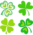 Isolated green irish shamrocks vector