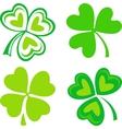 Isolated green Irish shamrocks vector image vector image