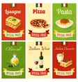 Italian Food Mini Poster vector image vector image