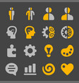 left and right brain icon set vector image vector image