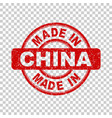 made in china red stamp on isolated background vector image vector image