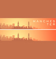 manchester beautiful skyline scenery banner vector image vector image