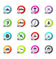 military and war icons set vector image vector image