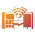 mobile payments and near field communication vector image
