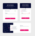 modern contact forms material design vector image