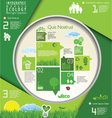 Modern ecology infographic design vector image vector image